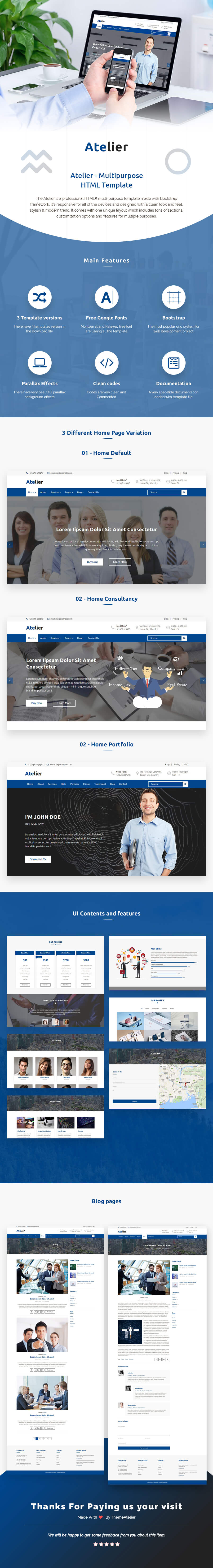 Atelier - Multipurpose HTML Template