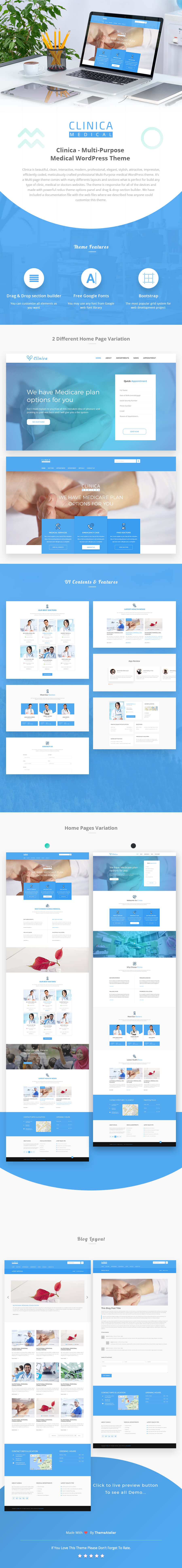 Clinica – Multi-Purpose Medical WordPress Theme